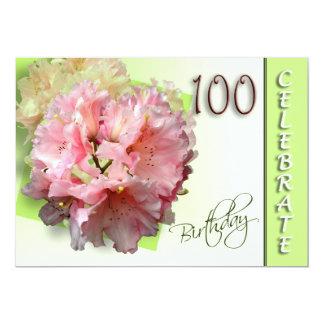 100o Invitación de la fiesta de cumpleaños - Invitación 12,7 X 17,8 Cm