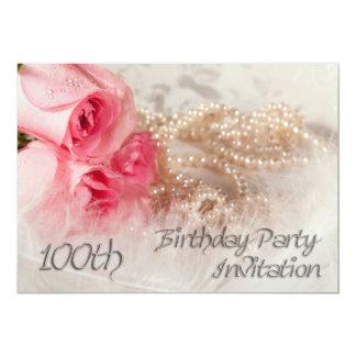 100o Invitación de la fiesta de cumpleaños