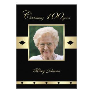 100o Invitación de la fiesta de cumpleaños -- Foto