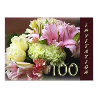 100o Invitación de la fiesta de cumpleaños - ramo