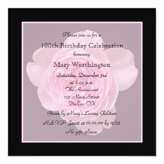 100o Invitación de la fiesta de cumpleaños - subió
