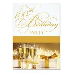 100o Invitación personalizada de la fiesta de