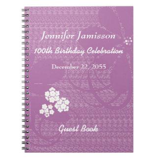 100o Libro de visitas de la fiesta de cumpleaños, Libros De Apuntes Con Espiral