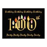 100o Plantilla de la invitación de la fiesta de