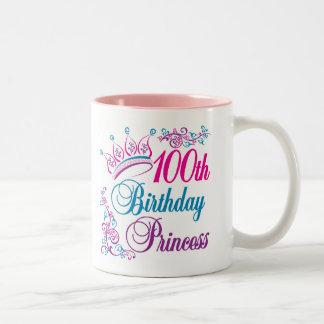 100o Princesa del cumpleaños Taza De Café De Dos Colores