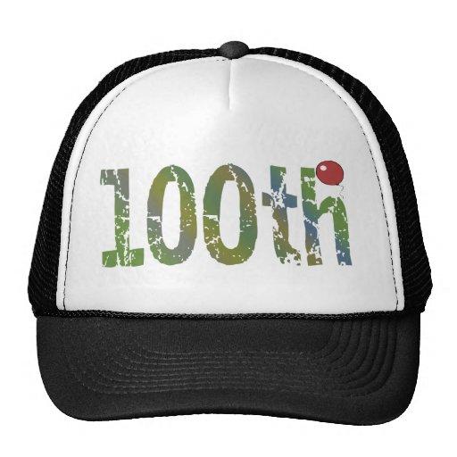 100o Regalo del gorra del cumpleaños