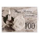 100o Tarjeta de cumpleaños para la abuela