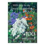 100o Tarjeta de cumpleaños para la bisabuela - jar