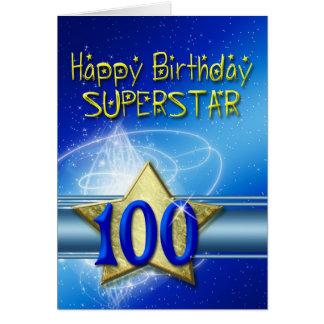 100o Tarjeta de cumpleaños para la superestrella
