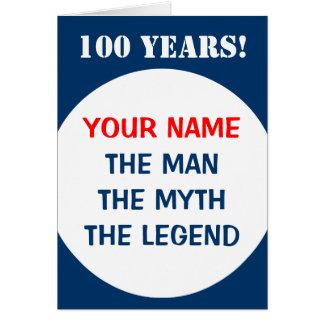100o Tarjeta de cumpleaños para los hombres el |