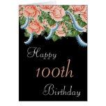 100o Tarjeta del feliz cumpleaños de los rosas del