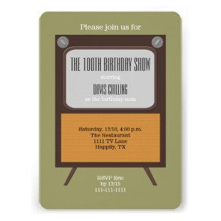 100o Vintage TV de la invitación de la fiesta de c