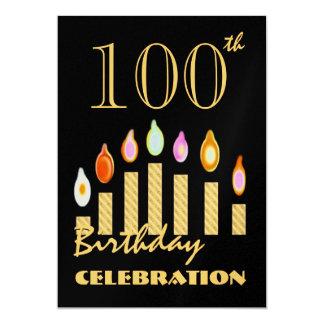 100o y sobre la invitación del fiesta del oro del