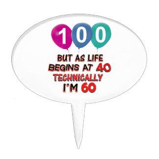 100os diseños del cumpleaños del año palillos de tarta