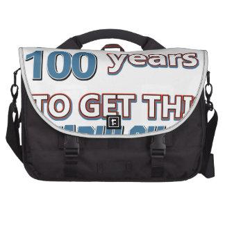 100os diseños del cumpleaños del año bolsas de portátil