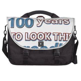 100os diseños del cumpleaños del año bolsas para ordenador