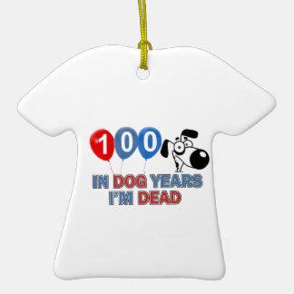 100os diseños del cumpleaños del año adorno
