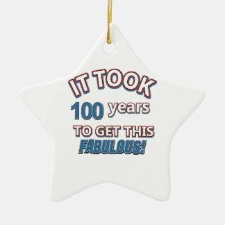 100os diseños del cumpleaños del año ornamente de reyes