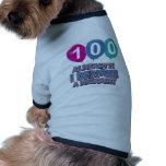 100os diseños del cumpleaños del año camisas de perritos