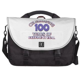 100os diseños divertidos del cumpleaños bolsas de portátil