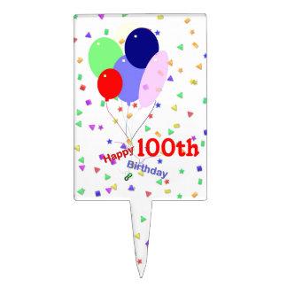 100os globos coloridos del cumpleaños figuras para tartas