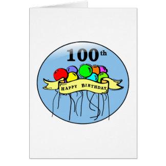 100os impulsos felices del cumpleaños tarjeta de felicitación