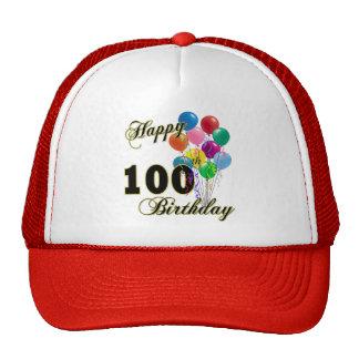 100os regalos de cumpleaños y ropa felices del cum gorros