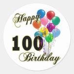 100os regalos de cumpleaños y ropa felices del pegatina redonda