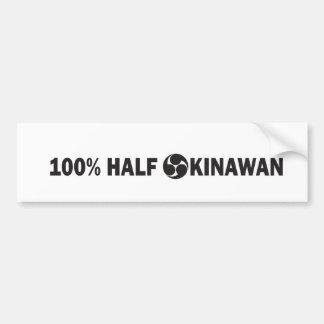 100PercentHalfOkinawan.pdf Bumper Sticker