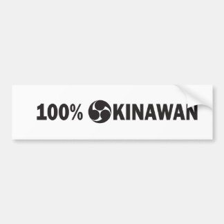 100PercentOkinawan.pdf Bumper Sticker