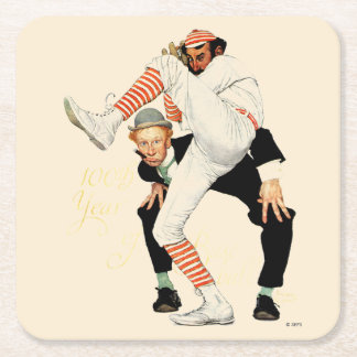100th Anniversary of Baseball Square Paper Coaster