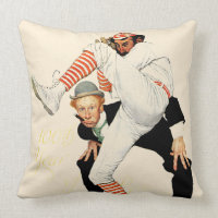 100th Anniversary of Baseball Throw Pillow