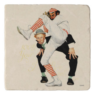 100th Anniversary of Baseball Trivet