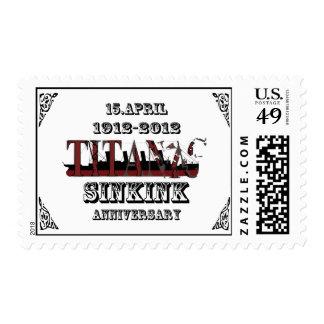 100th anniversary of Titanic tragedy Medium Postag Postage Stamp