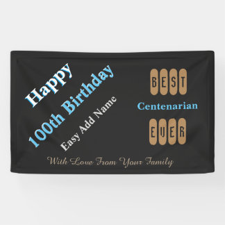 100th Birthday Age Appropriate Banner