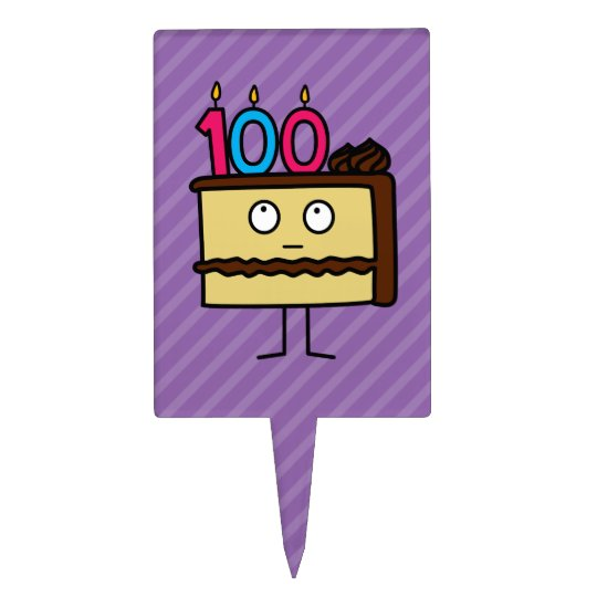 100th Birthday Cake With Candles Topper
