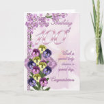 "100th Birthday Card For A Special Lady<br><div class=""desc"">100th Birthday Card For A Special Lady</div>"