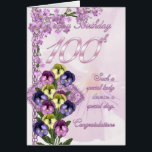 """100th Birthday Card For A Special Lady<br><div class=""""desc"""">100th Birthday Card For A Special Lady</div>"""