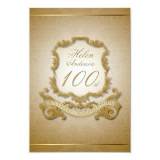 100th Birthday Celebration Custom Vintage Frame Card