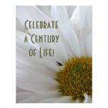 100th Birthday Celebration-Daisy close-up Custom Invitation