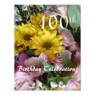 100th Birthday Celebration!-Party/Floral Bouquet Card