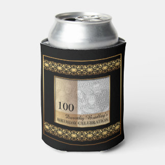 100th Birthday Celebration Photo Can Cooler
