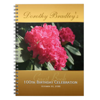 100th Birthday Celebration Rhododendron Guest Book