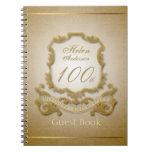 100th Birthday Celebration Vintage Frame Note Books