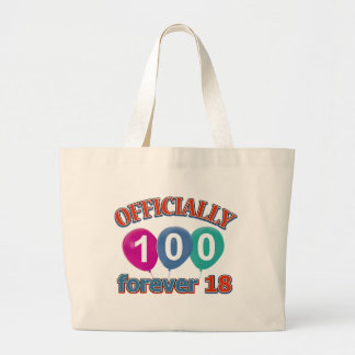 100th birthday designs bags