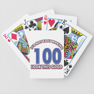 100th birthday designs bicycle playing cards