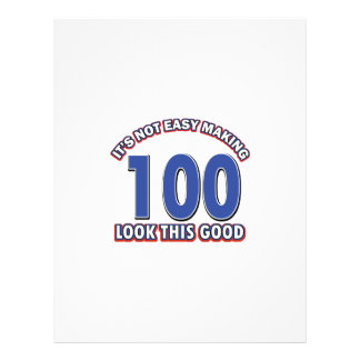 100th birthday designs letterhead