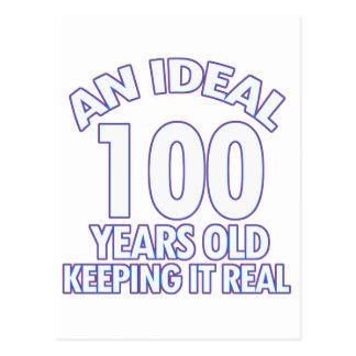 100th birthday designs postcard