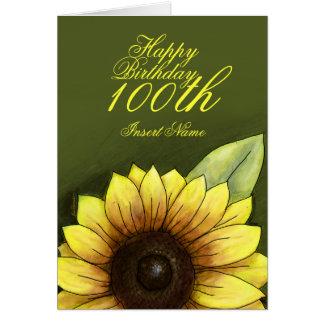 100th Birthday Floral Greeting Card