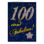 100th birthday for someone Fabulous Greeting Cards